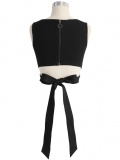 Black Bowknot Back Sleeveless Vest