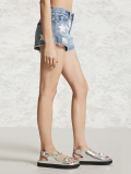 Blue Rough Selvedge Stars Print Denim Short